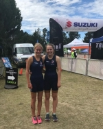 Nga Tawa's Tori Bendall and Georgina Bryant impress at Triathlon Nationals.